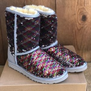 UGG Classic Short Custom Sequin women Boots